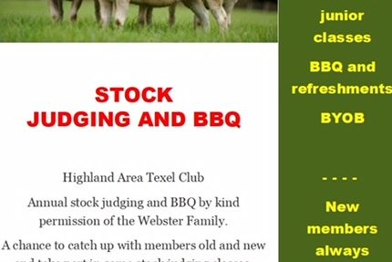 Highland Club stock judging event